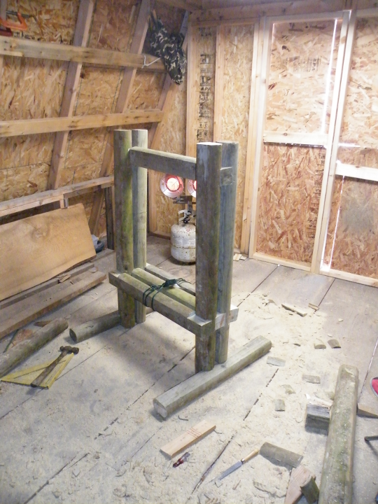 Nearly Completed Press Frame