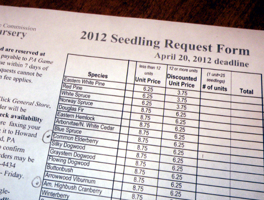Seedling Order Form