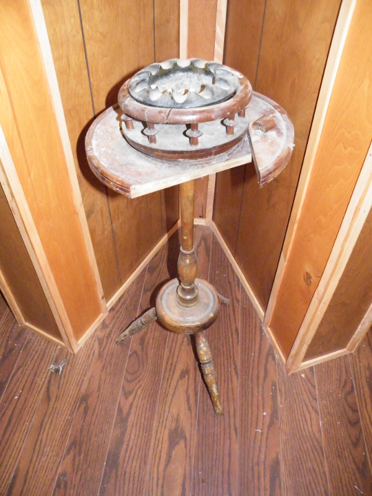 Smoking Stand - Slightly Used, and Very Old !